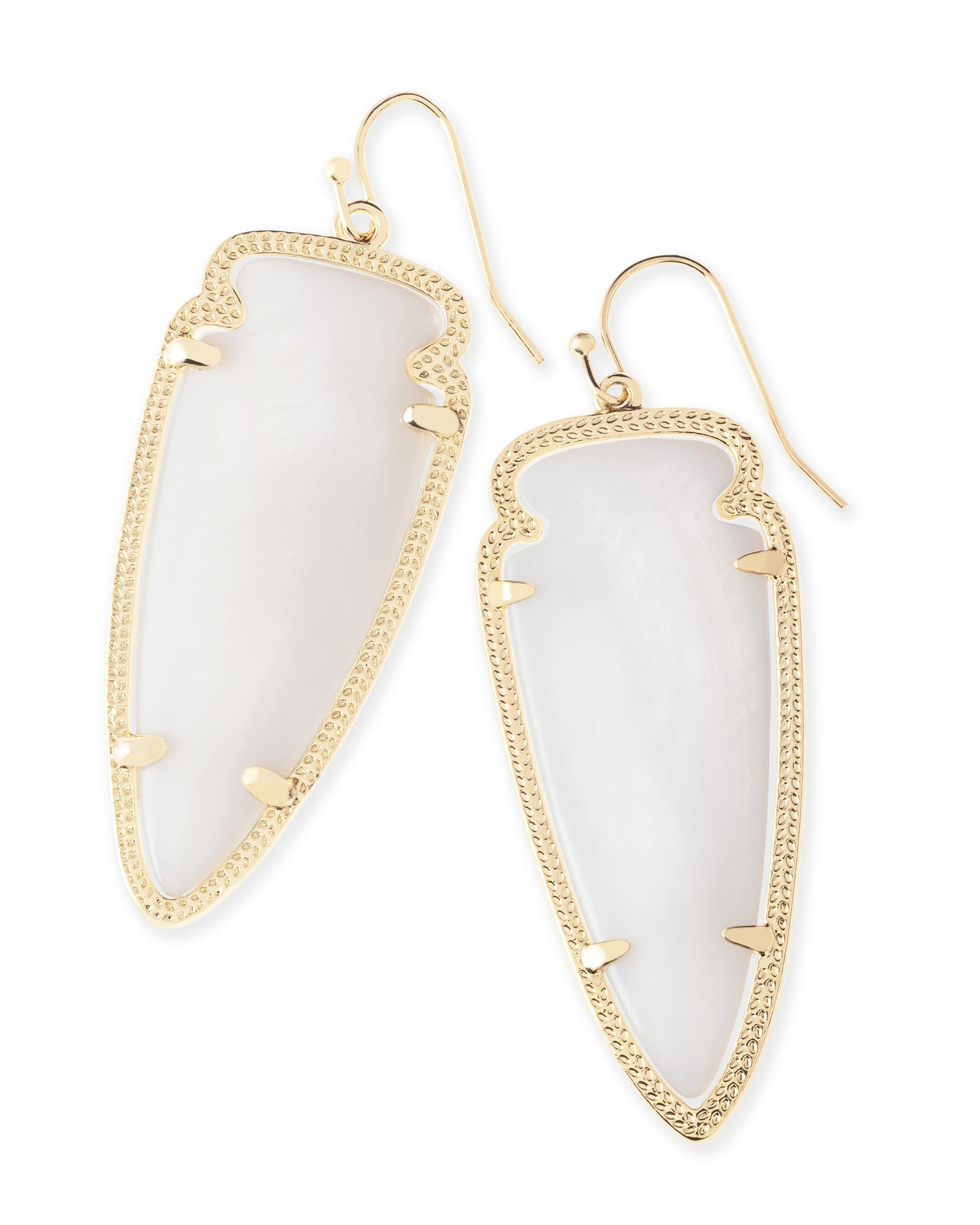 Skylar Earrings In White Pearl