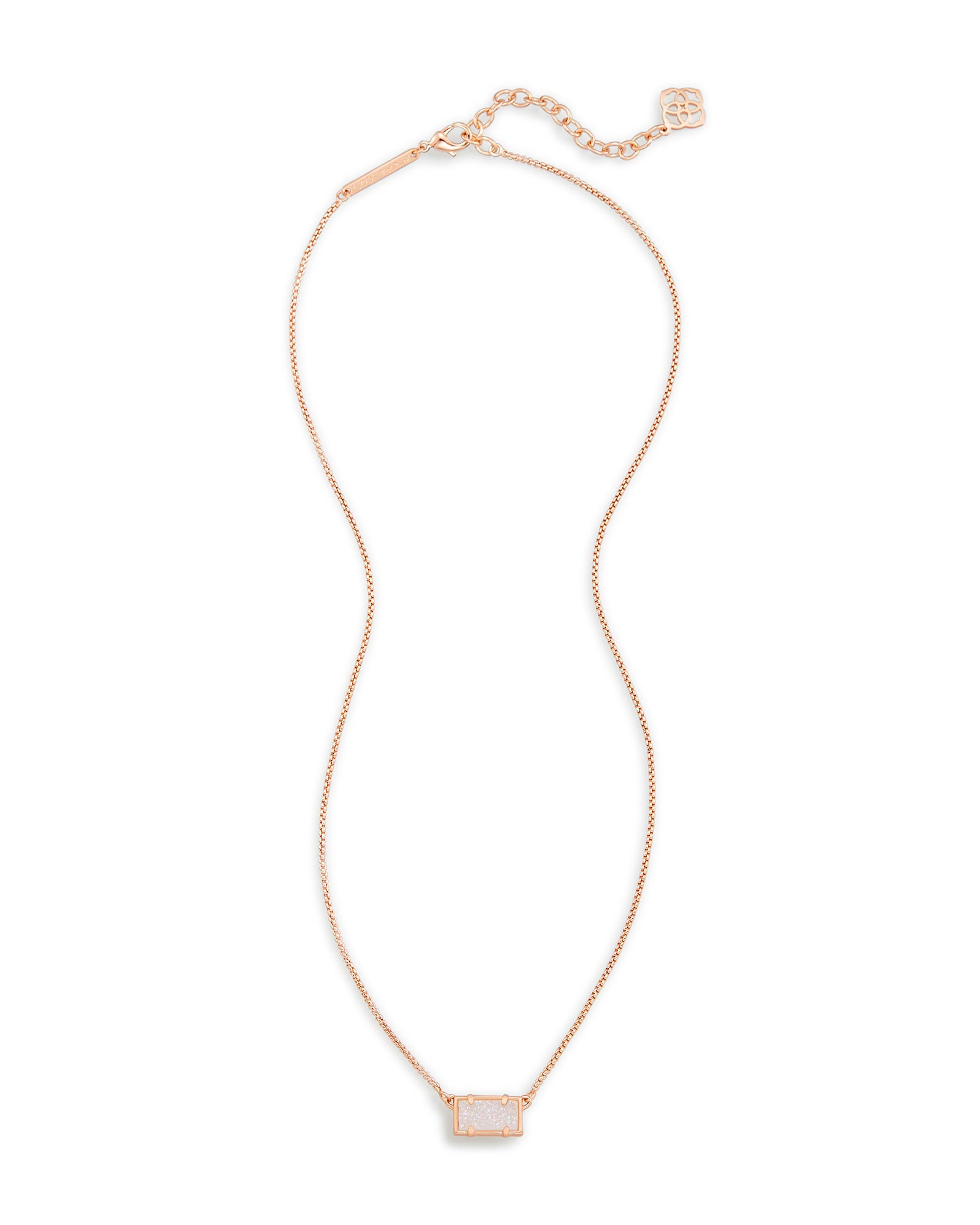 Pattie Rose Gold Pendant Necklace in Drusy Kendra Scott