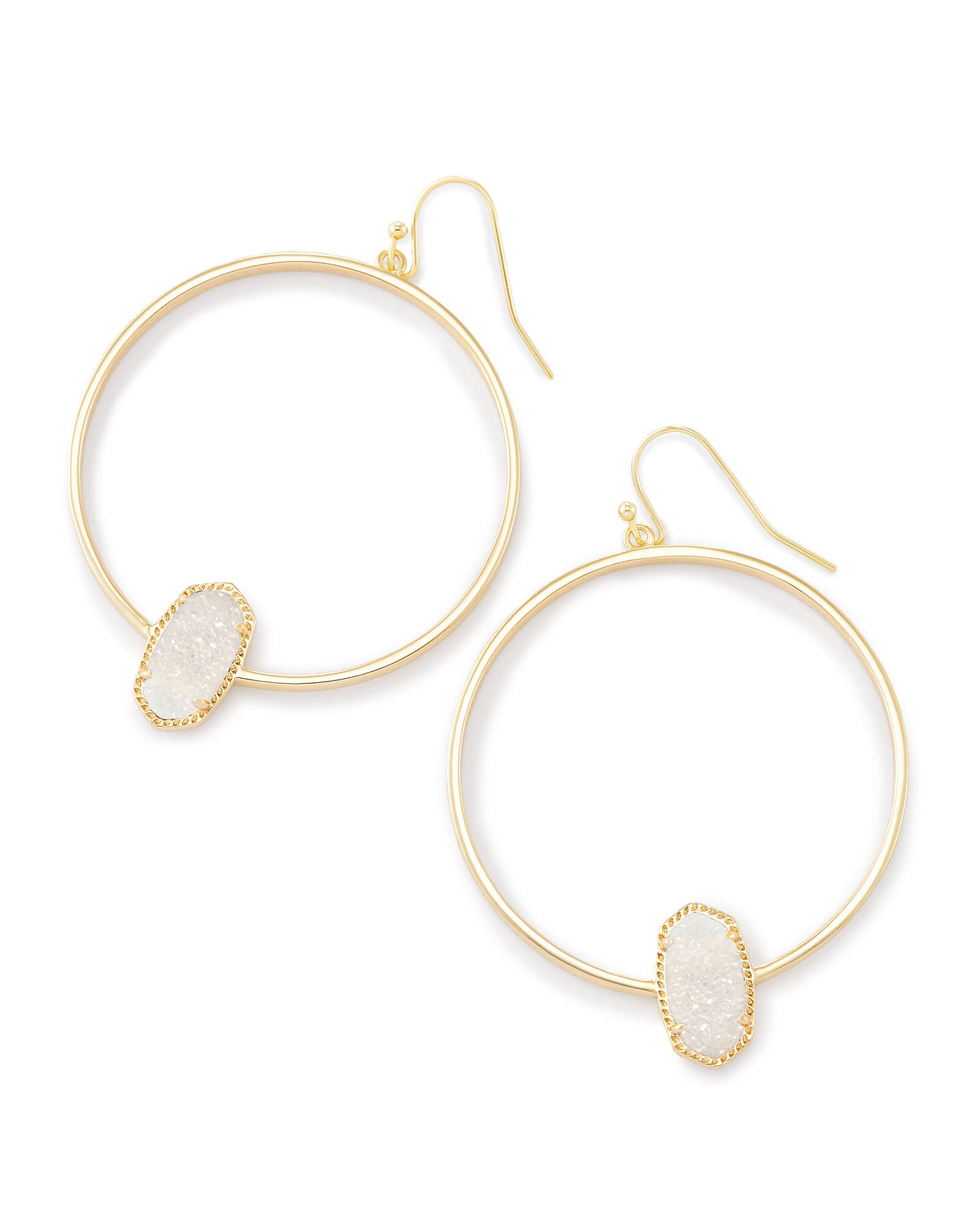 collections products jewellery jewelry hexagon gold hoop mizana earrings rose