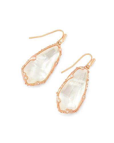 Zena Drop Earrings in Rose Gold from Kendra Scott Product Image