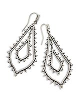 Alice Statement Earrings in Antique Silver