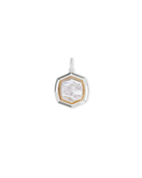Davis Sterling Silver Charm in Ivory Mother-of-Pearl
