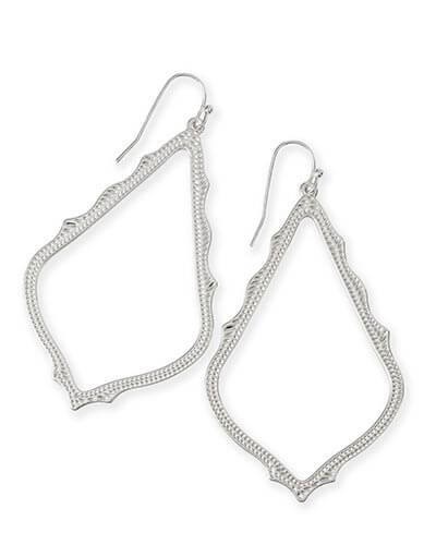Sophee Drop Earrings in Silver