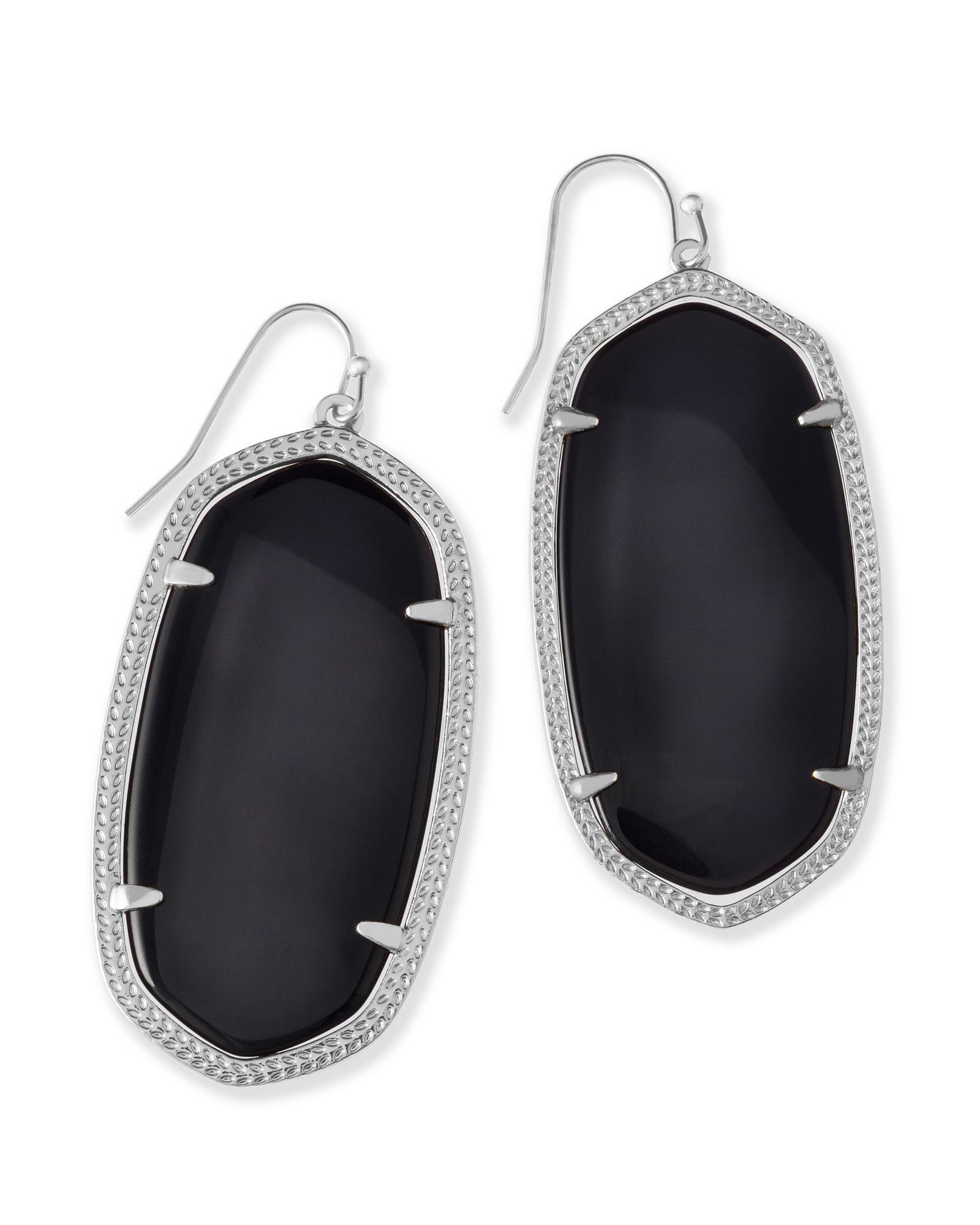 Danielle Silver Earrings In Black