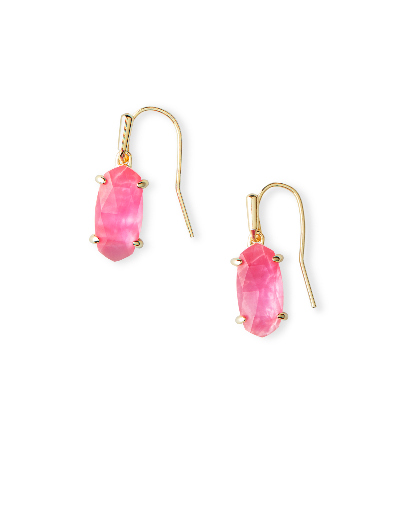 Lemmi Gold Drop Earrings in Azalea Illusion