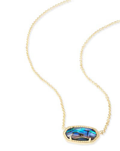 Elisa Pendant Necklace in Abalone Shell