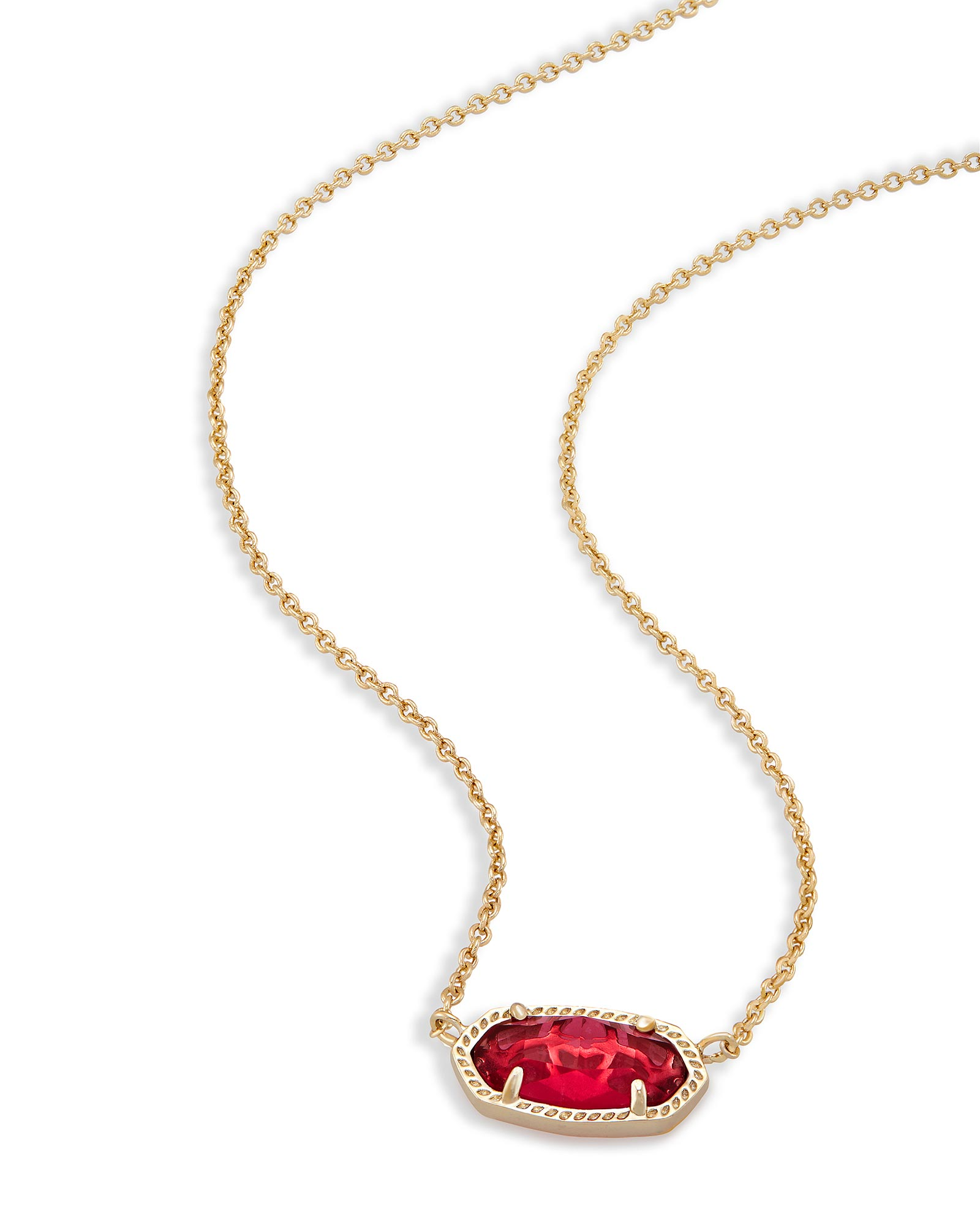Elisa Pendant Necklace in Berry Glass