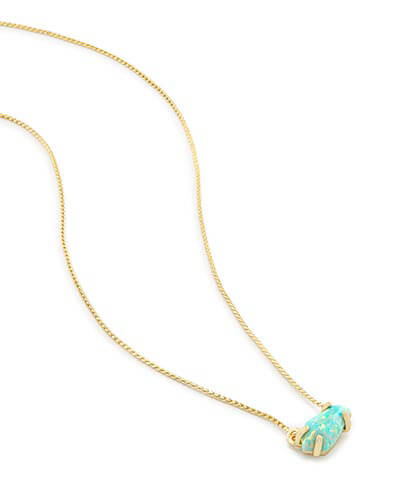 Jayde Pendant Necklace in Aqua Kyocera Opal