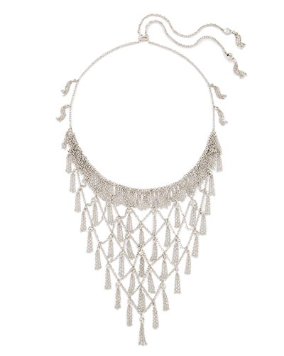 Georgina Statement Necklace in Silver