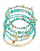 Supak Beaded Bracelet Set in Amazonite