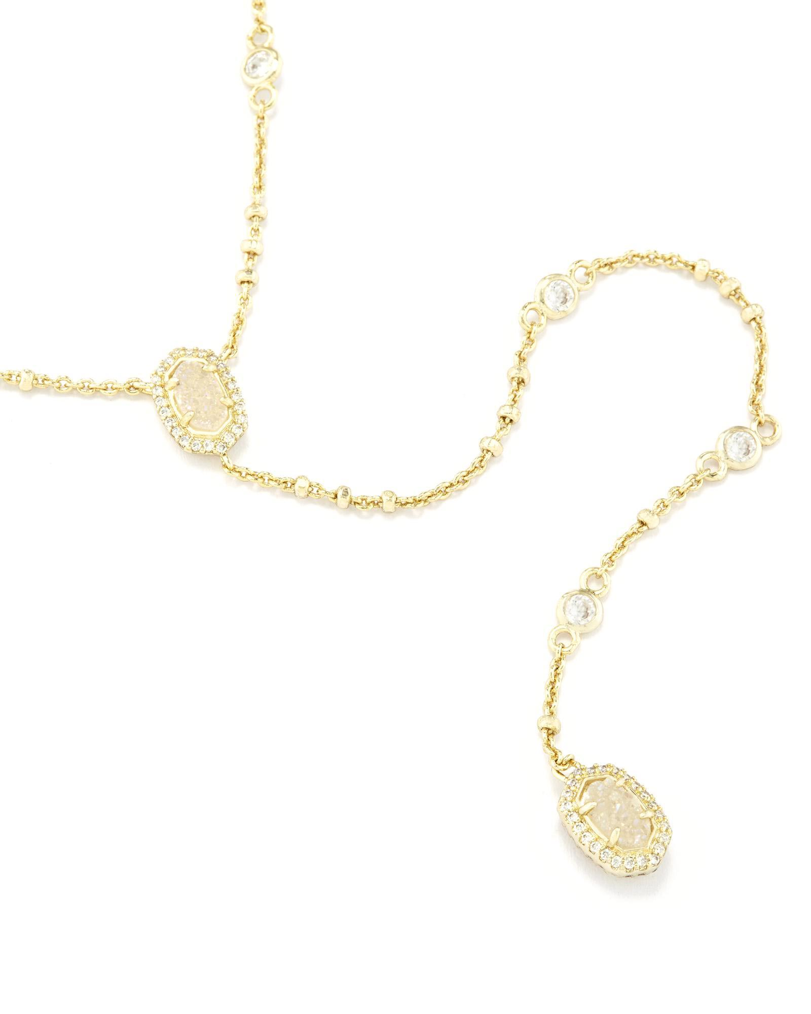 Claudia Lariat Necklace In Gold