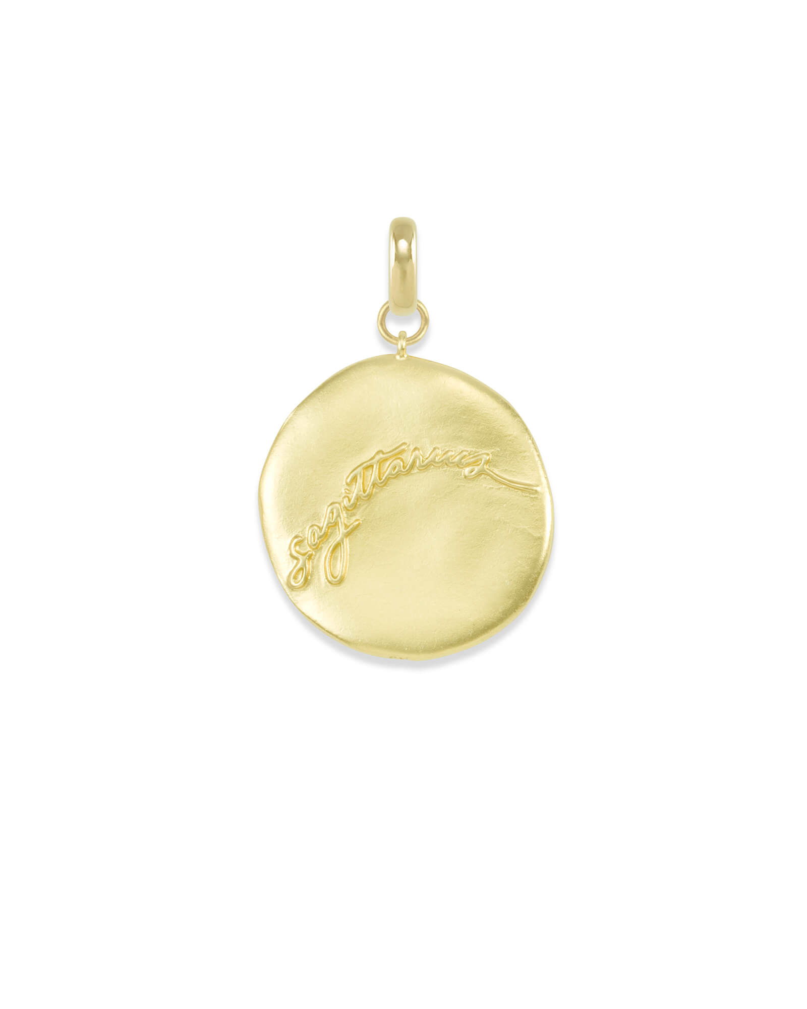 Sagittarius Coin Charm in Gold