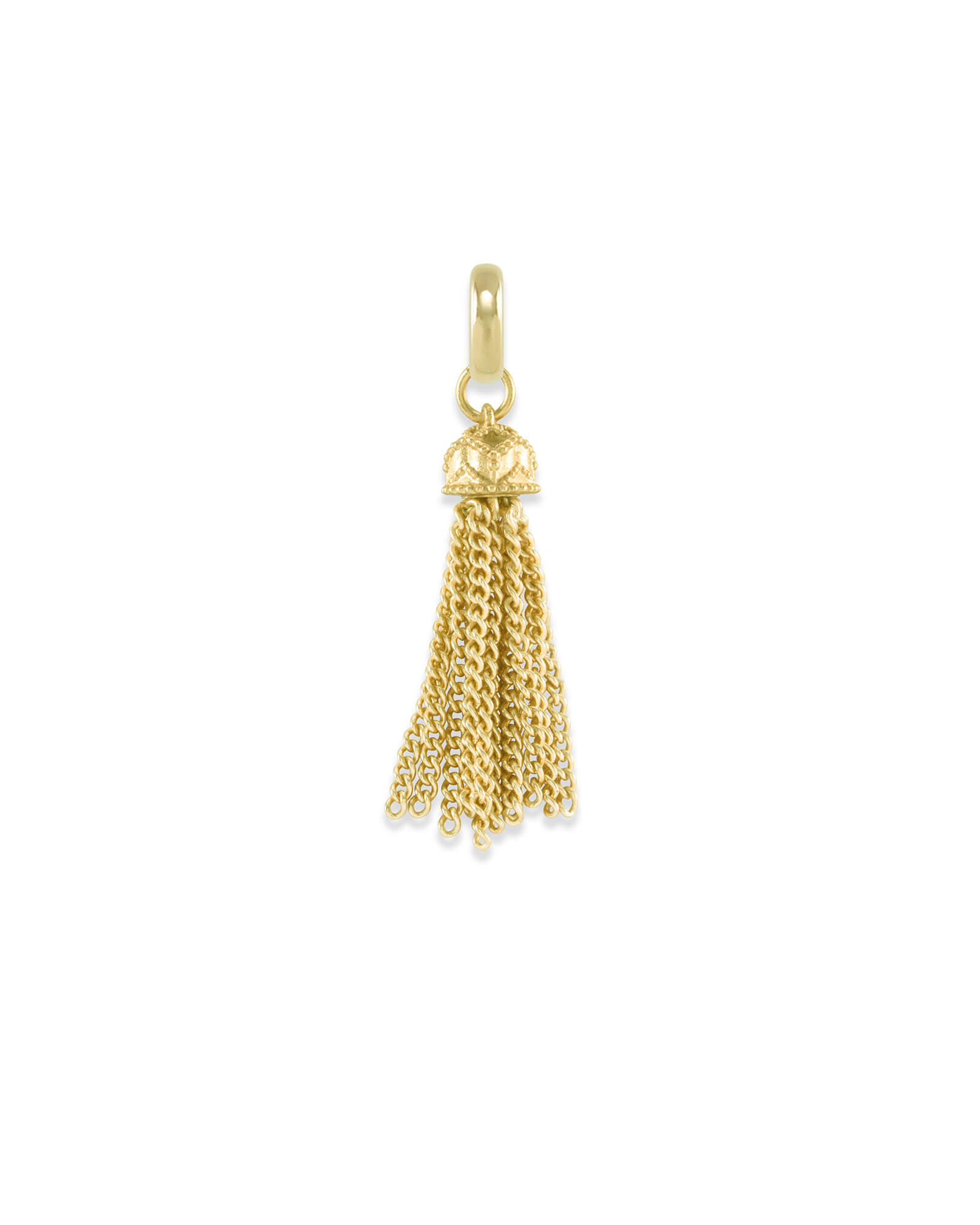 Small Tassel Charm in Gold