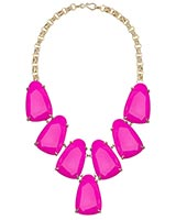 Harlow Statement Necklace in Magenta