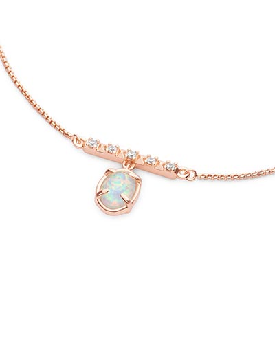 Fischer Pendant Necklace in Rose Gold