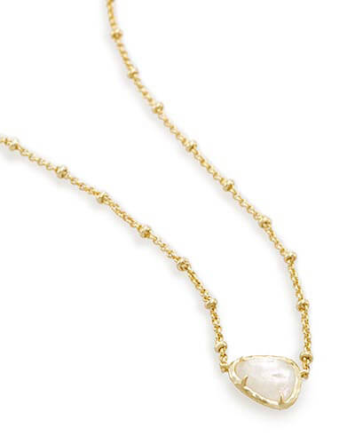 Arleen Pendant Necklace in Crystal Ivory Illusion