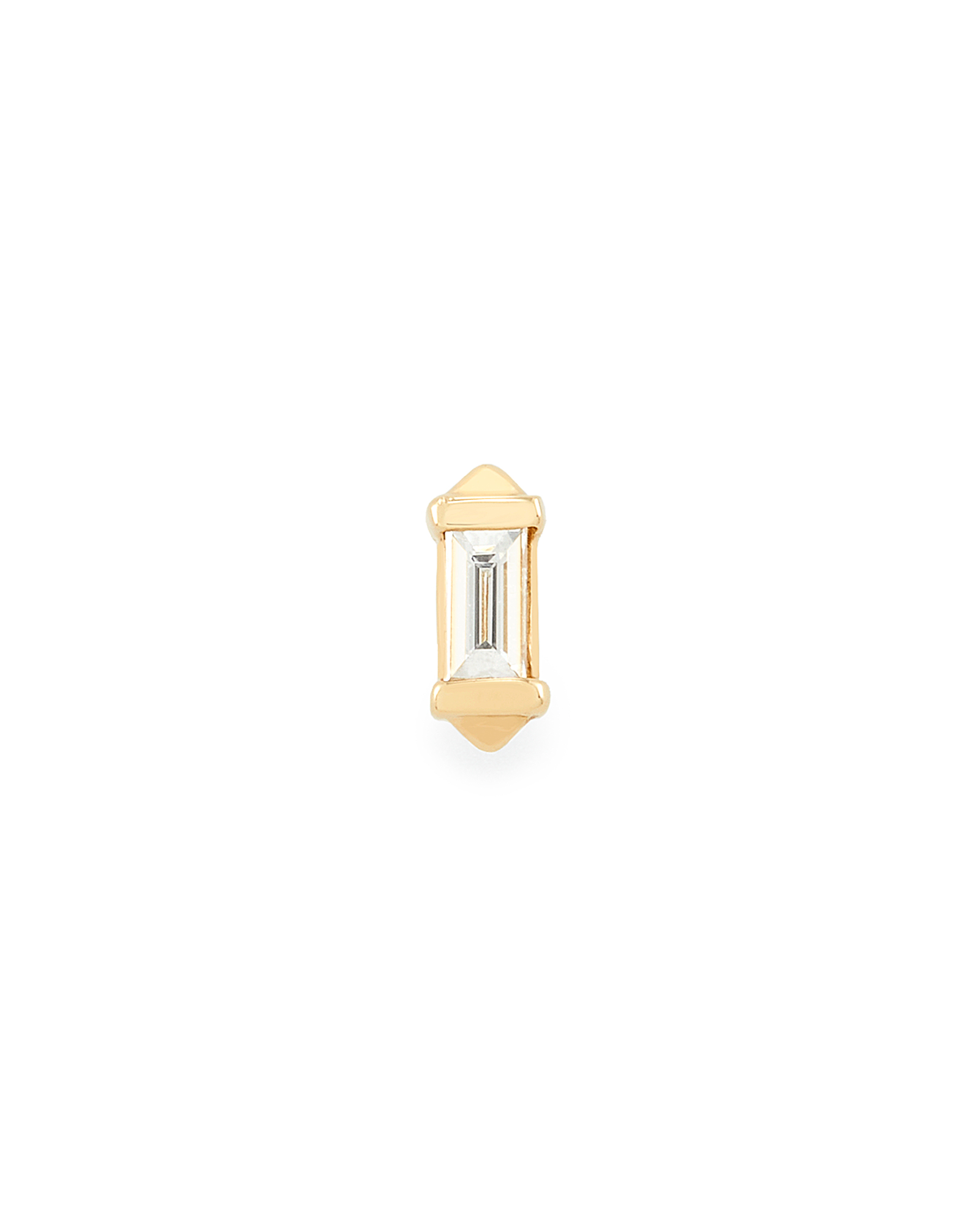 Sianna Mini 14K Yellow Gold Stud Earring in White Diamond