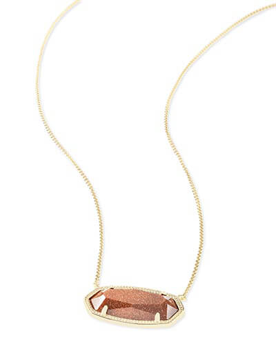 Delaney Pendant Necklace in Goldstone