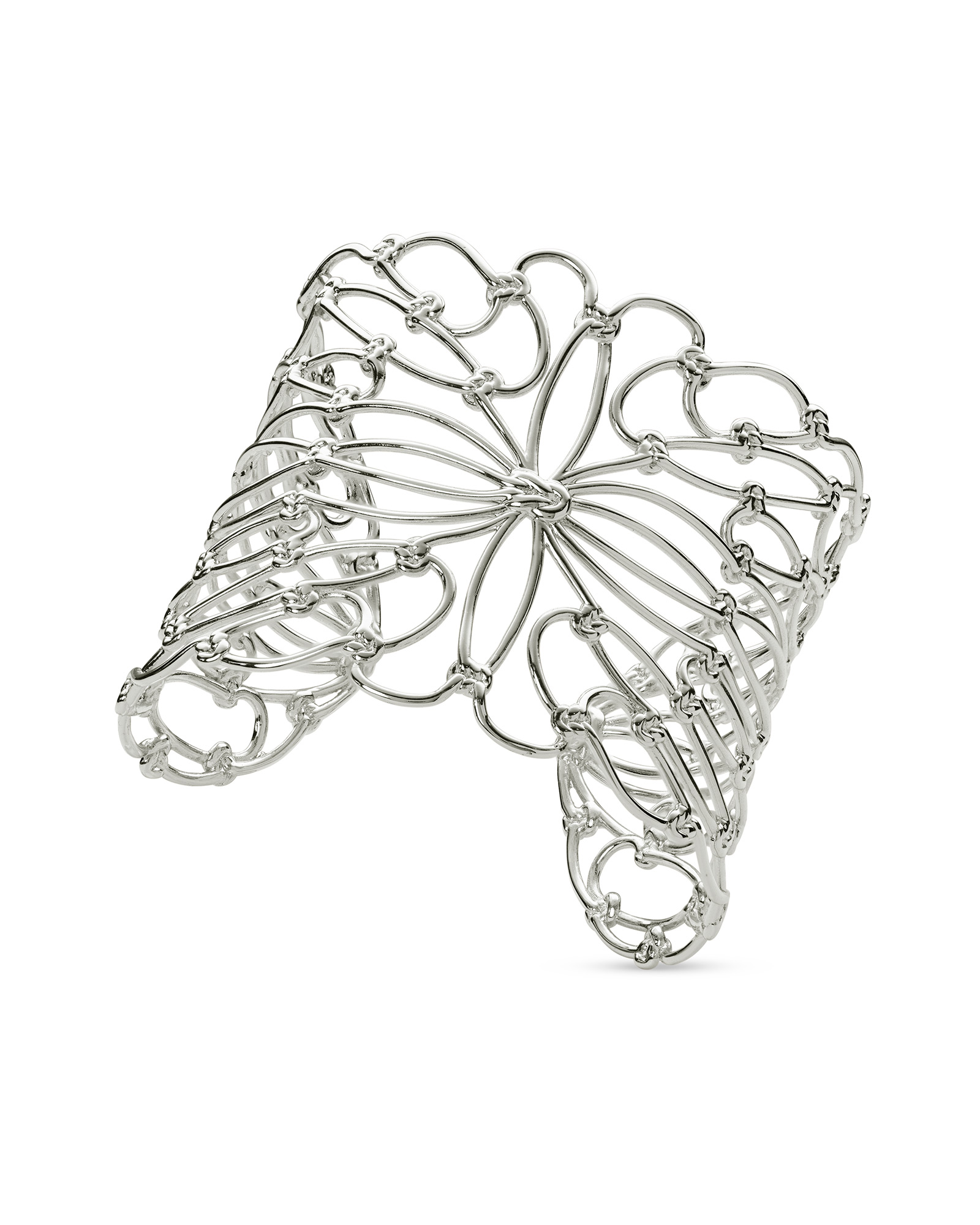 Hallie Statement Bracelet In Silver