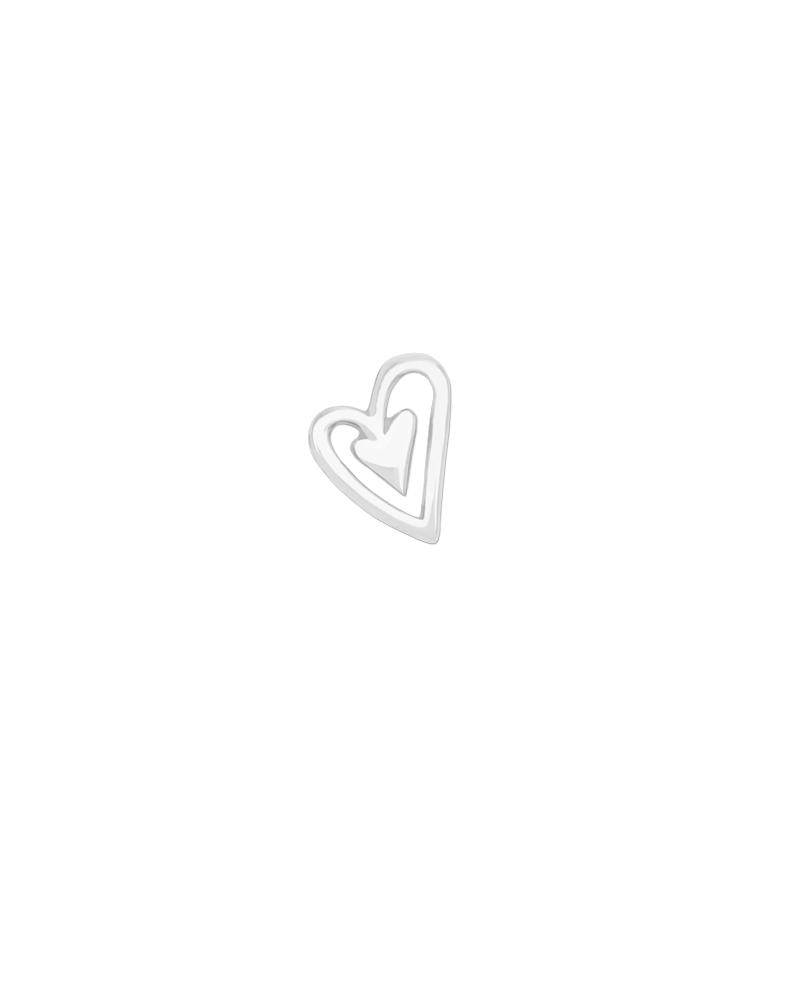 Issie Heart Charm - Silver