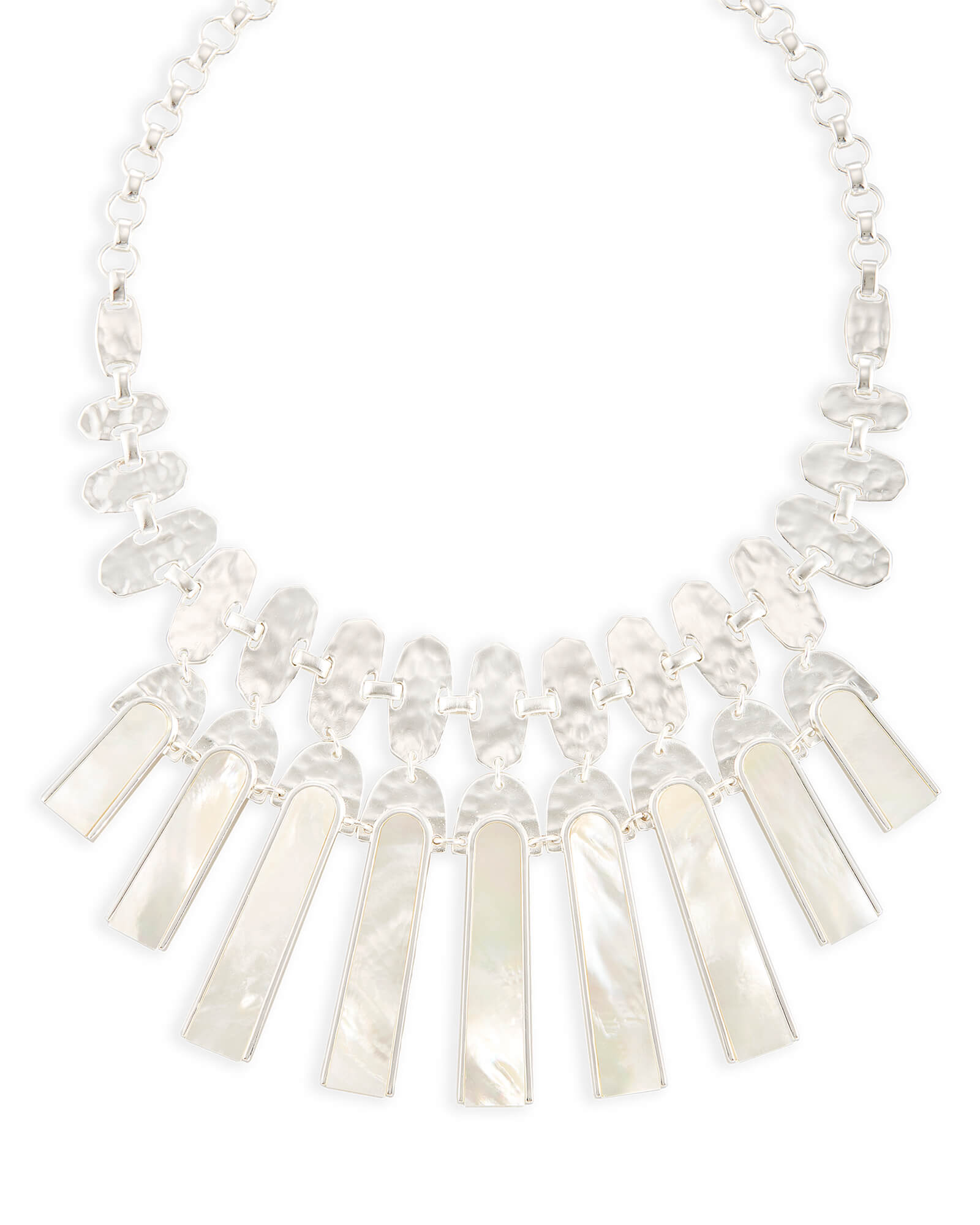 Mimi Statement Necklace in Ivory Pearl