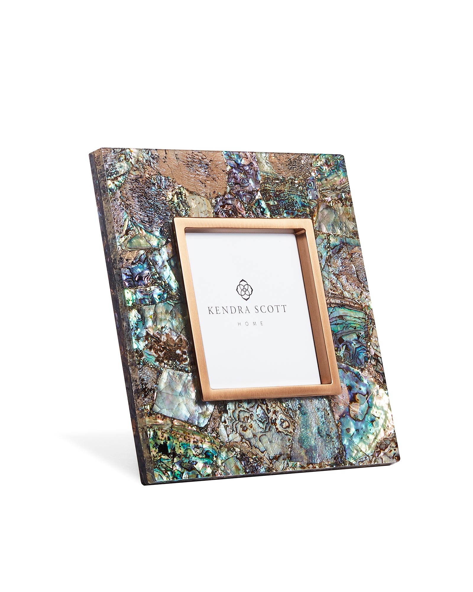 4x4 Photo Frame in Crackle Abalone Shell