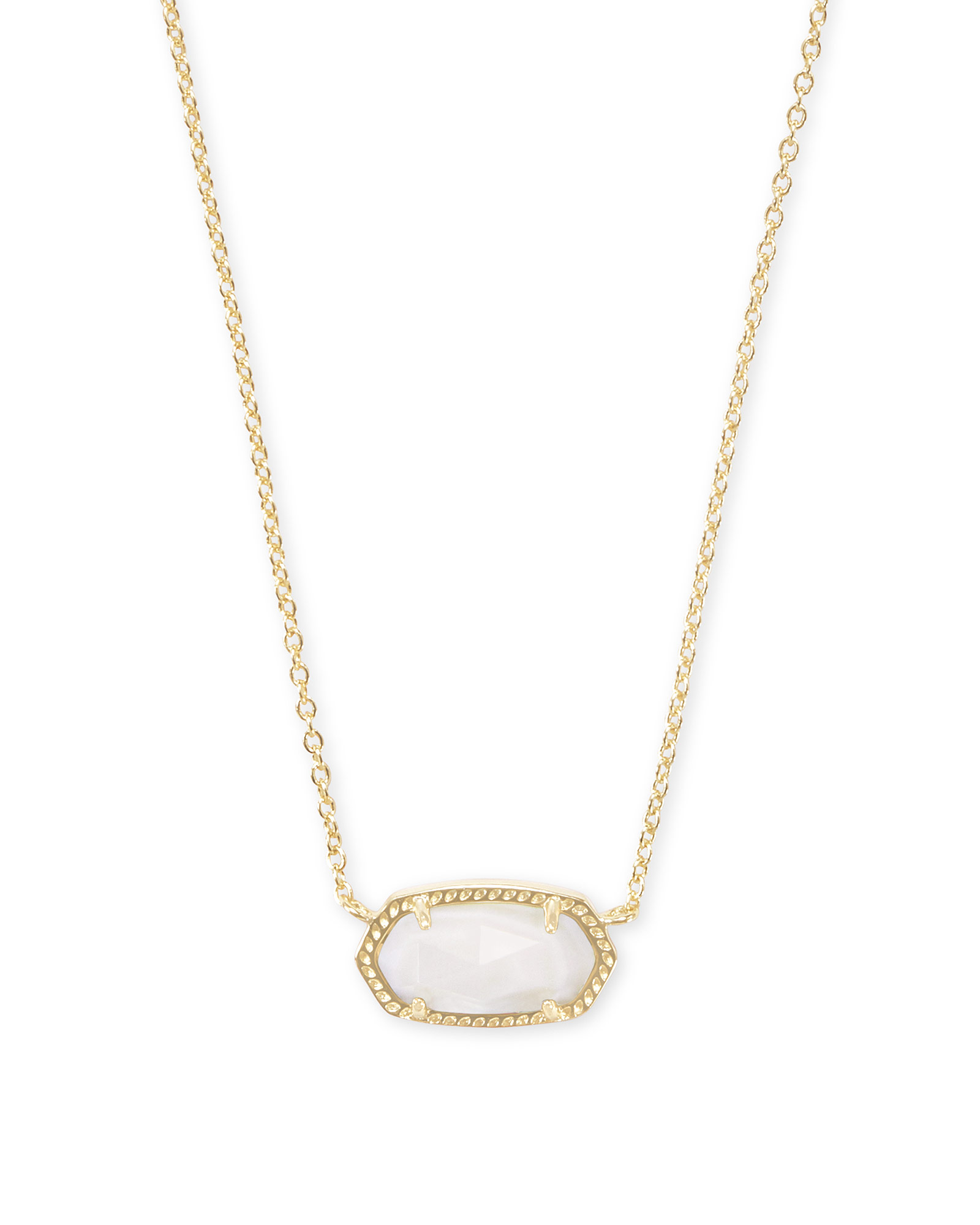 2de0bf37c42a3 Elisa Gold Pendant Necklace in White Mother-of-Pearl | Kendra Scott