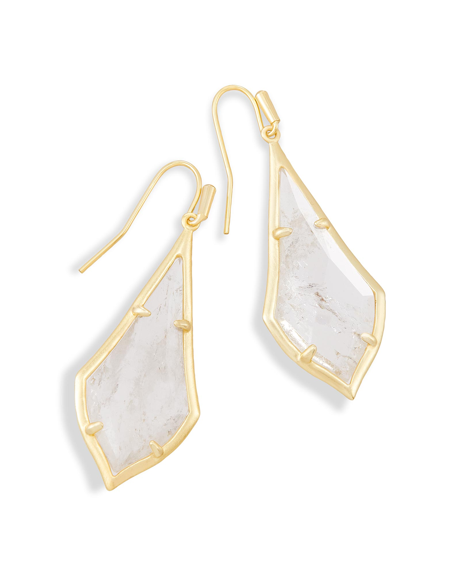 Olivia Drop Earrings in Rock Crystal