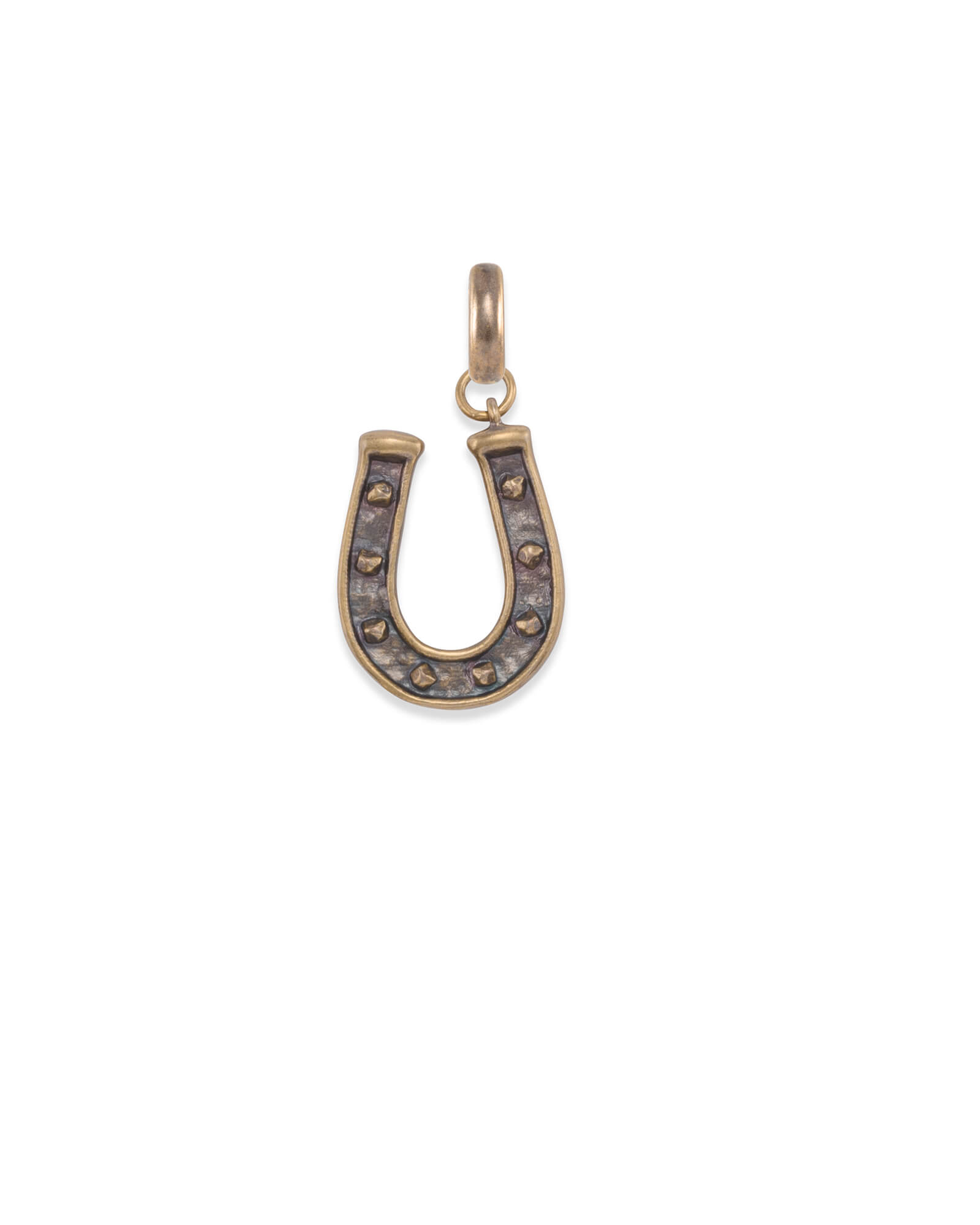 Horseshoe Charm in Vintage Gold