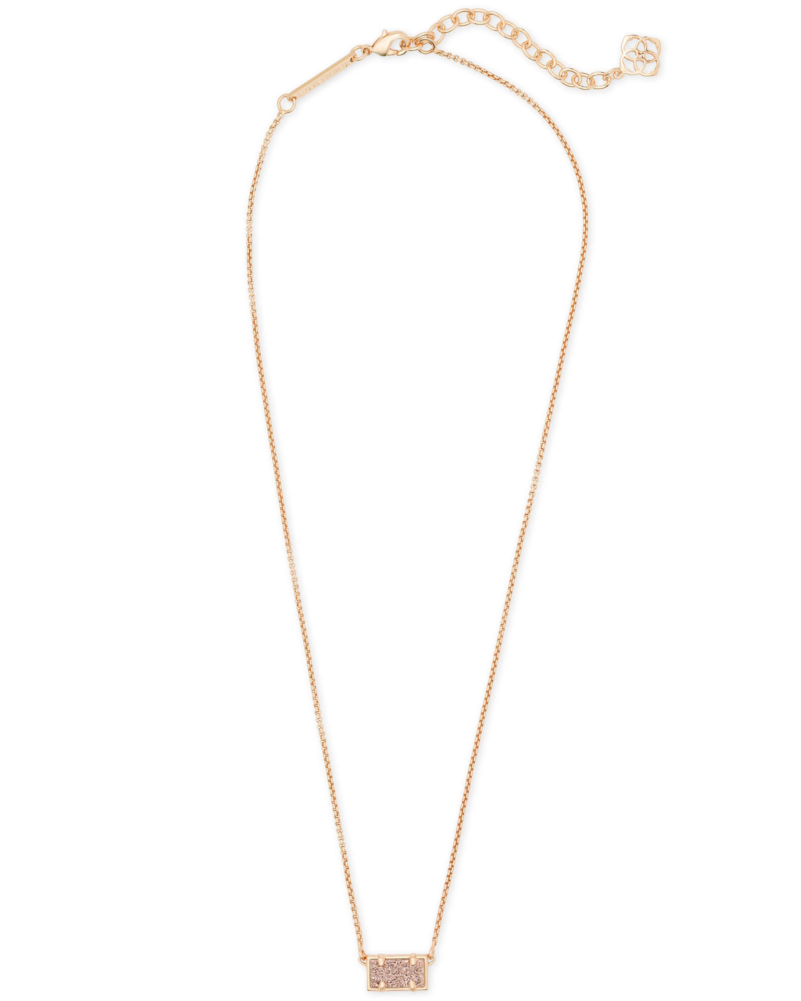Pattie Rose Gold Pendant Necklace In Rose Gold Drusy