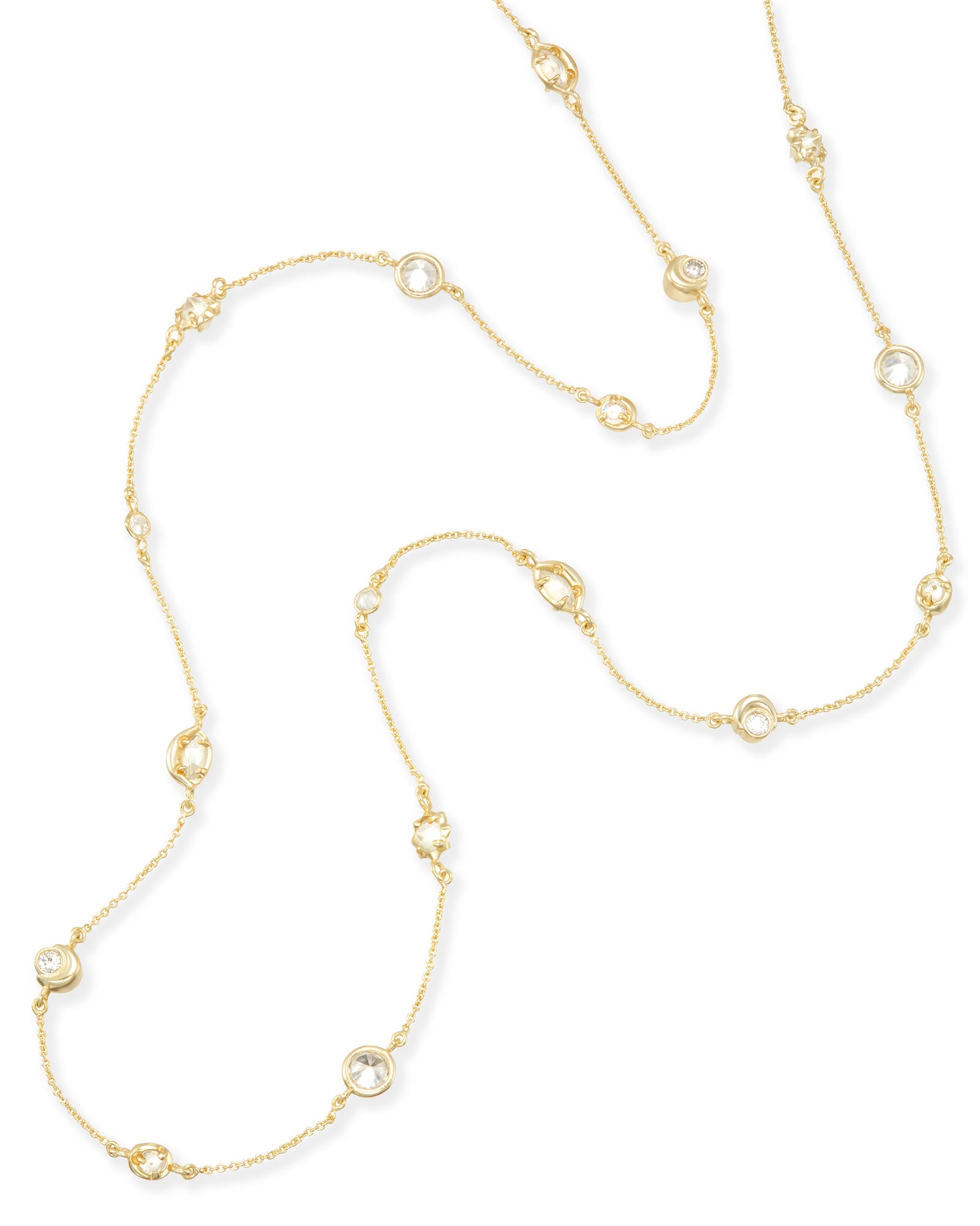 Augie Long Necklace in Gold