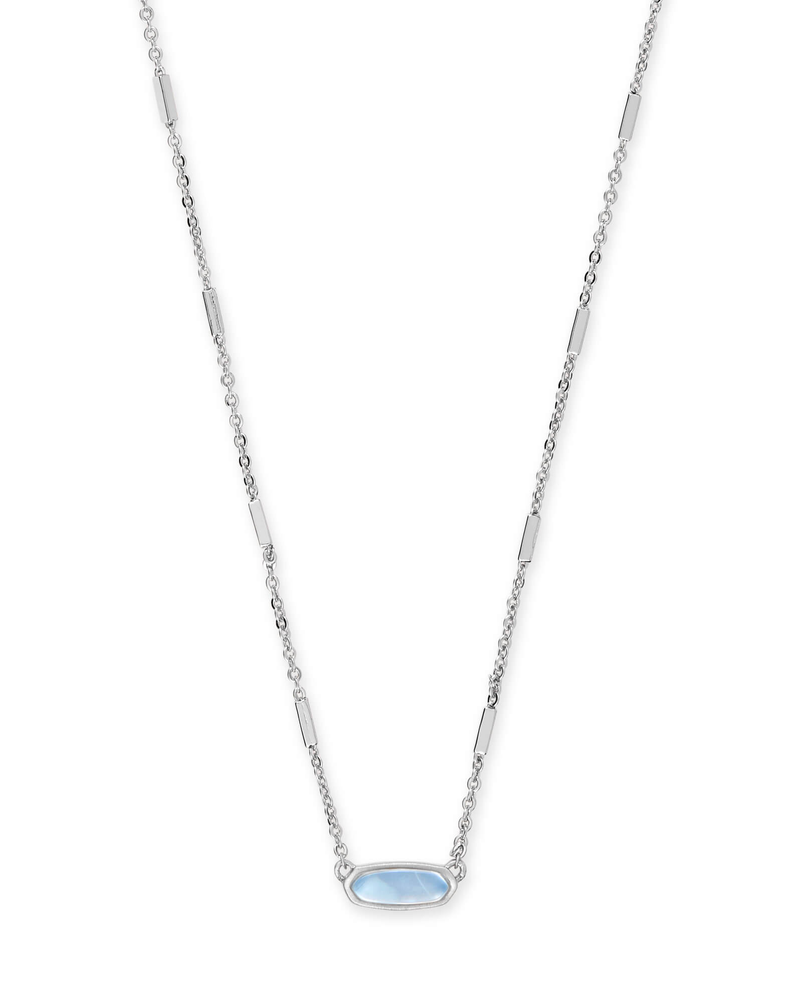 f4bae212ea021 Miya Bright Silver Pendant Necklace in Sky Blue Illusion