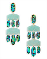 Emmet Statement Earrings in Abalone Shell