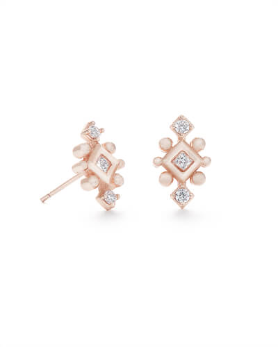 Tilda Stud Earrings in Rose Gold