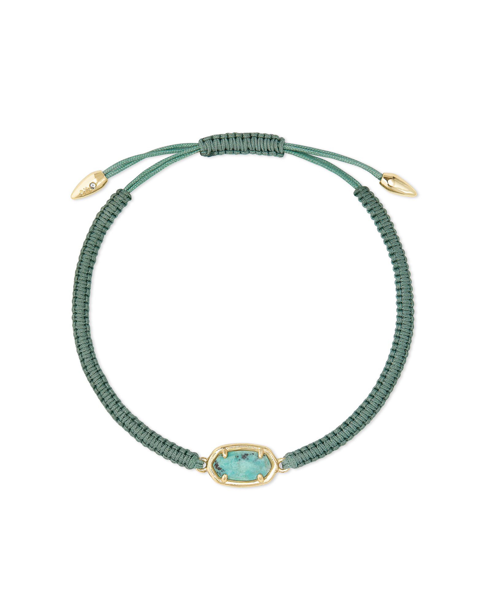 Grayson Sea Green Cord Friendship Bracelet in Sea Green Chrysocolla