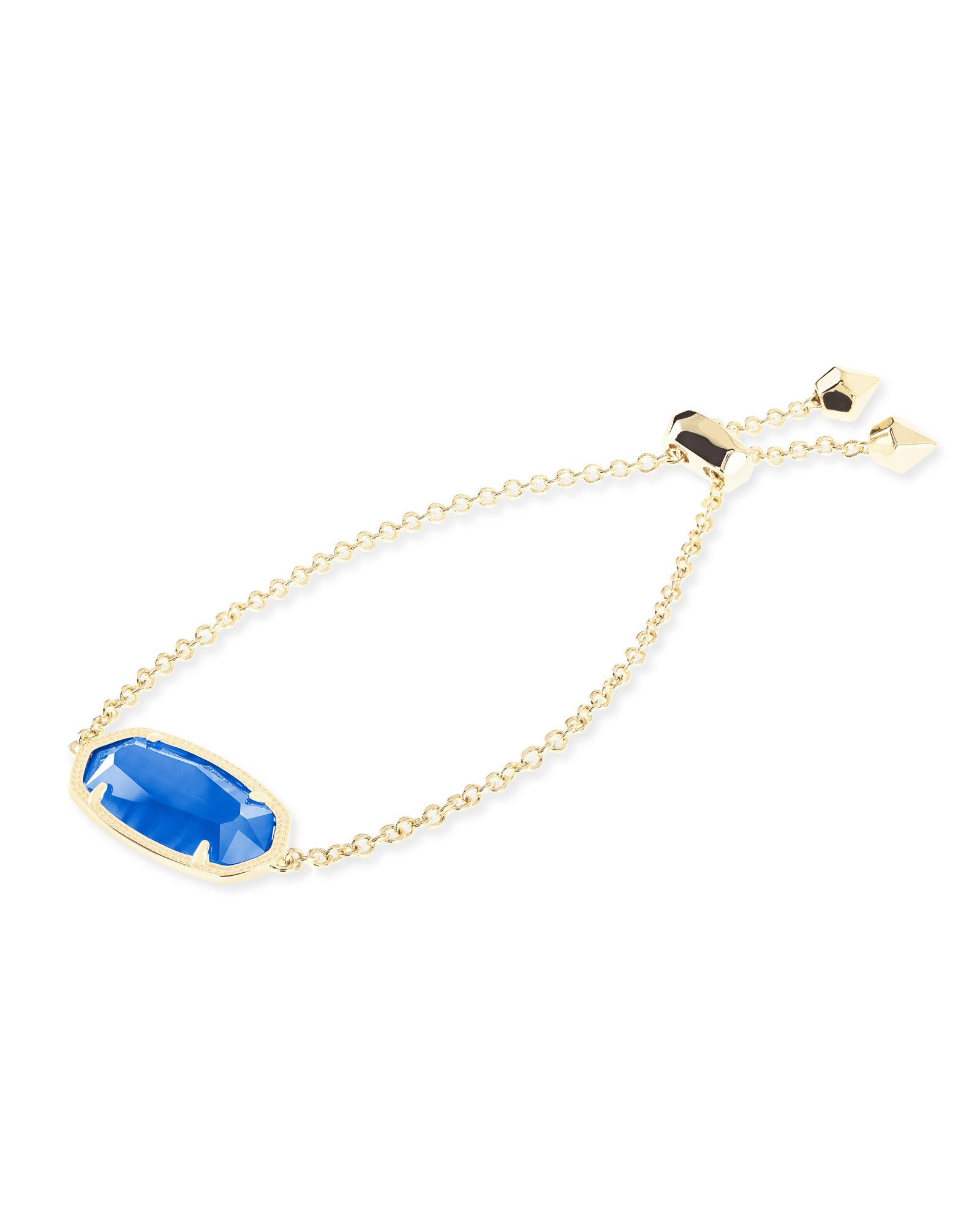 Daisy Adjustable Chain Bracelet in Cobalt