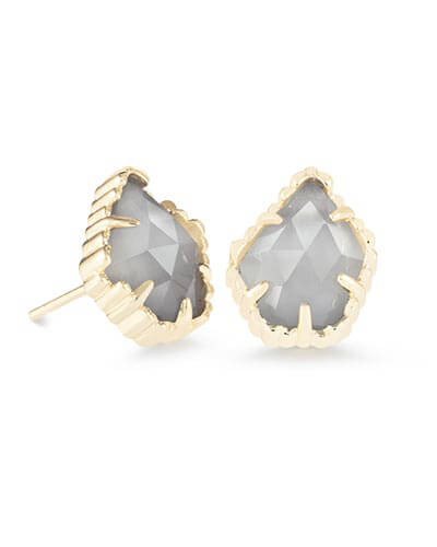 Tessa Stud Earrings in Slate