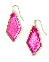 Emilia Gold Drop Earrings in Azalea Illusion