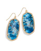 Danielle Statement Earrings in Aqua Apatite