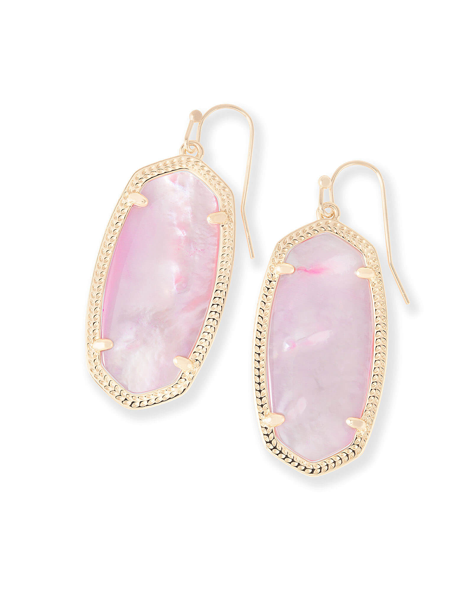 Elle Drop Earrings In Blush Pearl