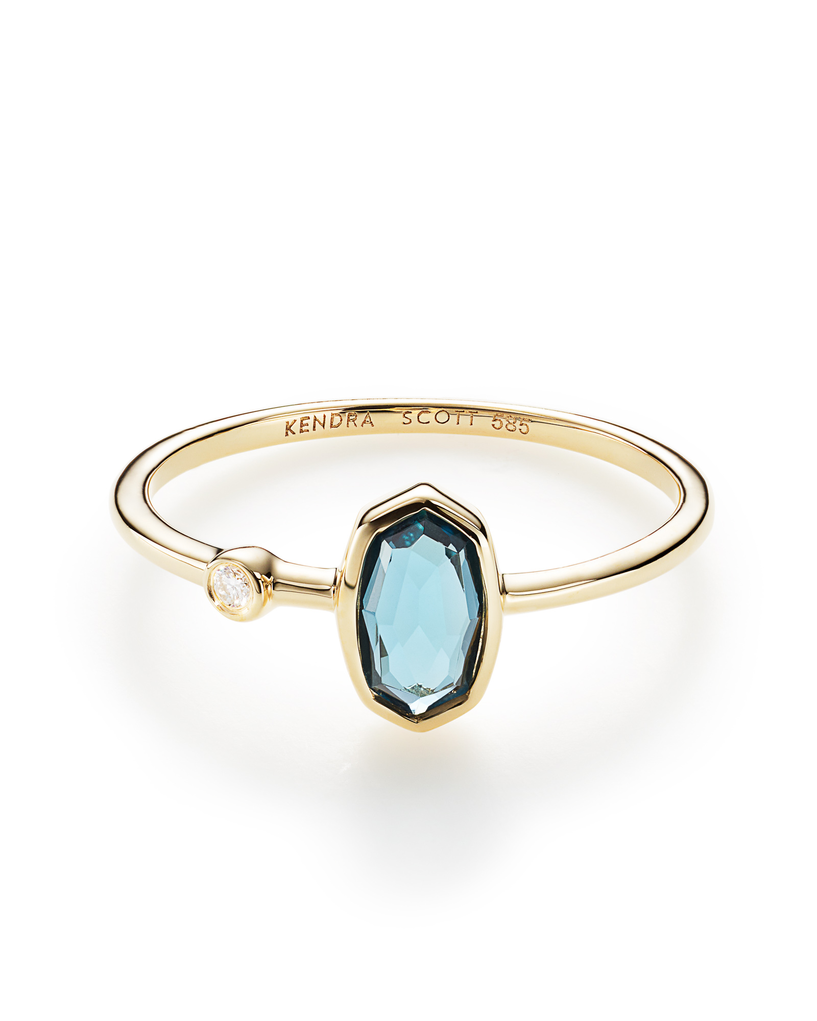 Chastain Ring in London Blue Topaz and 14k Yellow Gold