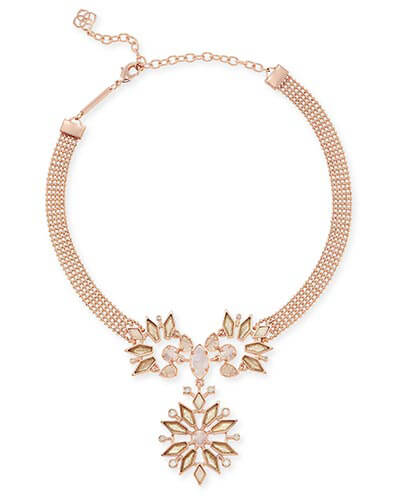 Isabella Choker Necklace in Rose Zellige