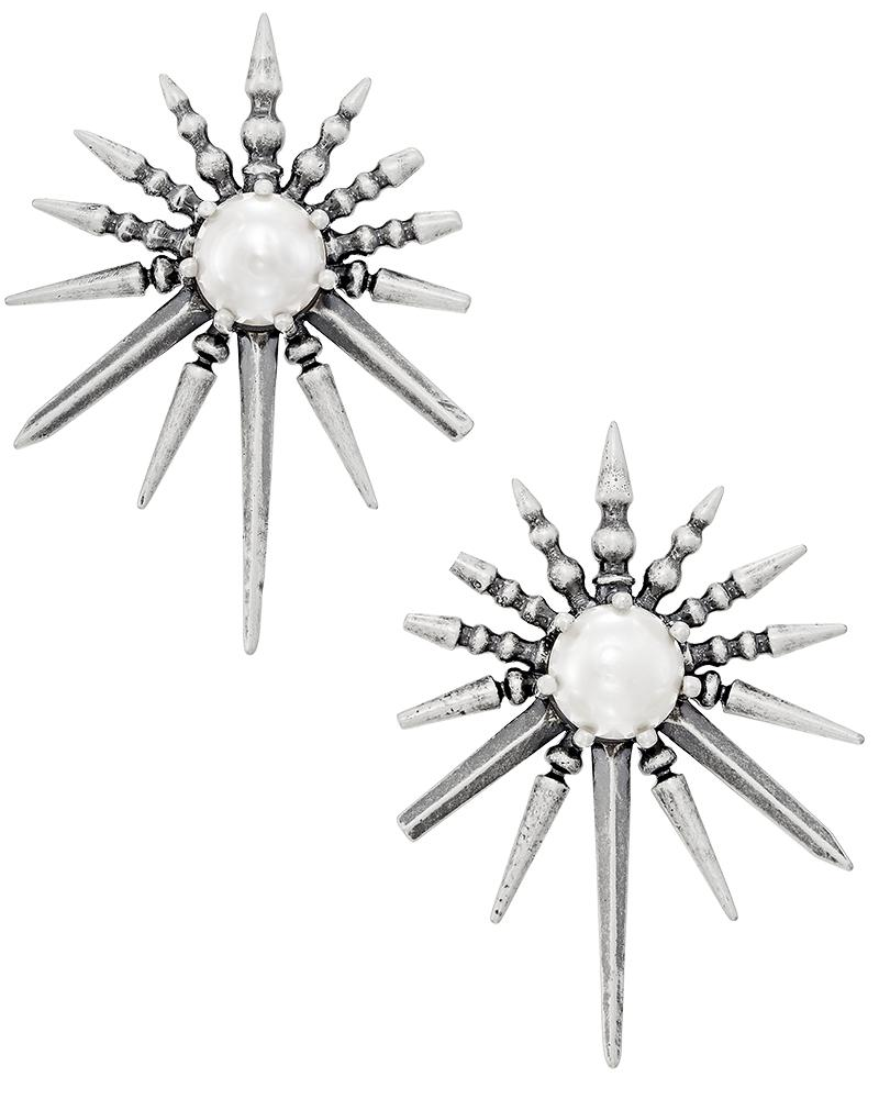 Sayers Statement Earrings in Antique Silver