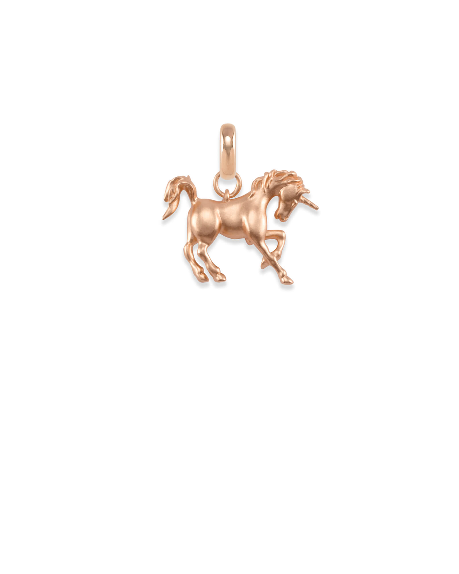 Unicorn Charm in Rose Gold