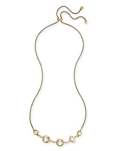 Janet Choker Necklace in Antique Brass