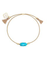 Everlyne Gold Cord Friendship Bracelet in Bronze Veined Turquoise Magnesite