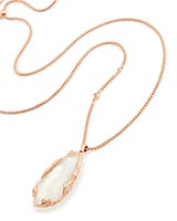 Zayne Long Necklace in Rose Gold