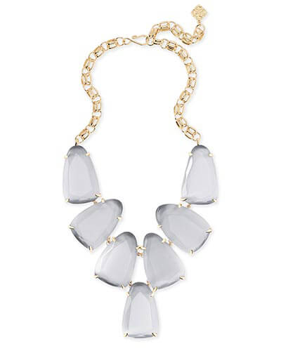 Harlow Statement Necklace in Slate