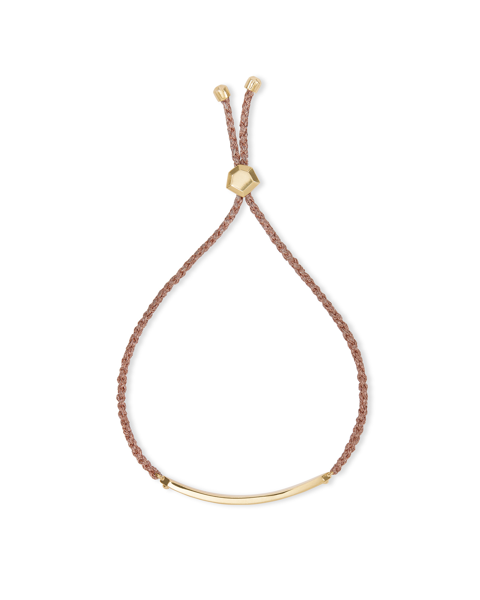 Mattie Bar Cord Bracelet in 18k Gold Vermeil