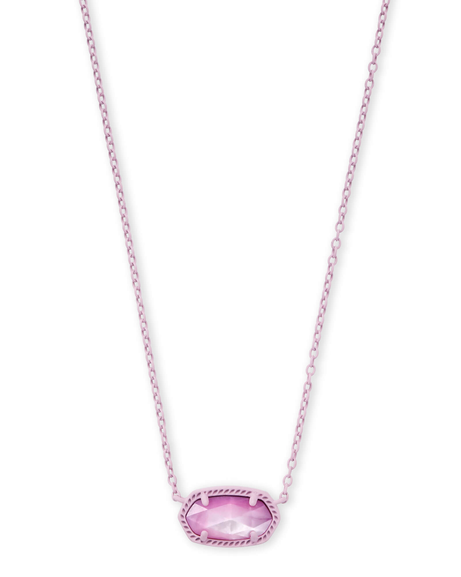 Elisa Matte Necklace in Lilac Mother of Pearl